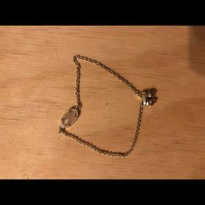 Elaina Adjustable Chain Bracelet in Rose Quartz